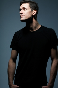 Young tall man in black shirt.